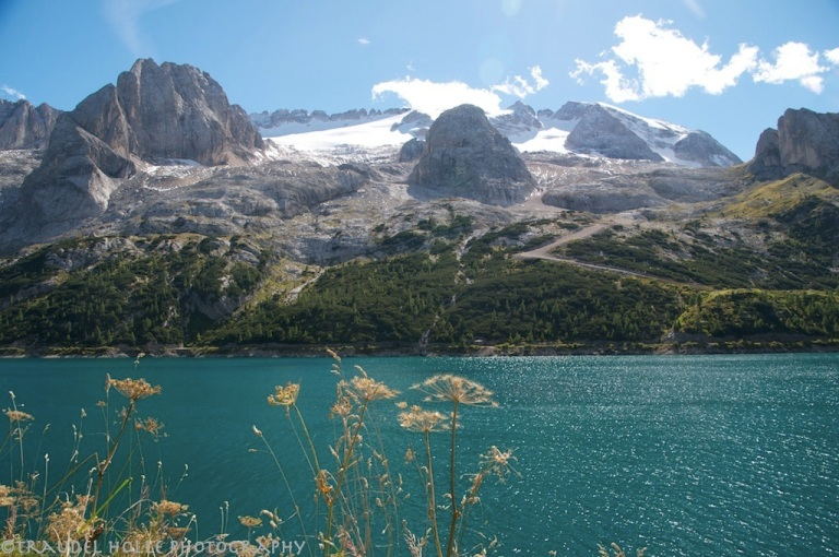 Marmolada and Lake Fedaia